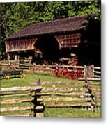 Old Appalachian Farm Cantilevered Barn Metal Print