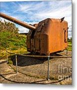 Old Artillery Gun - Ft. Stevens - Oregon Metal Print