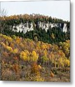 Old Baldy In Fall Metal Print