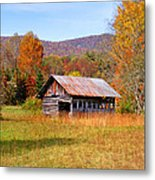 Old Barn Along Slick Fisher Road Metal Print