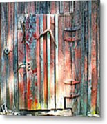 Old Barn Door 2 Metal Print
