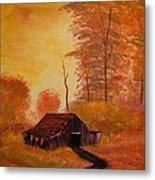 Old Barn In Autumn Metal Print