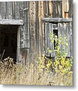 Old Barn In Fall Maine Metal Print