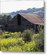Old Barn In Sonoma California 5d22232 Metal Print