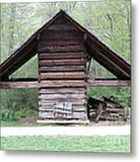 Old Barn In The Woods Metal Print