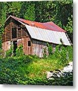 Old Barn Near Chimney Rock Metal Print