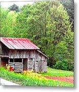 Old Barn Near Willamson Creek Metal Print