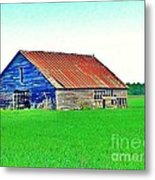 Old Barn On Treaty Road Oakhill Kansas Metal Print