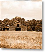 Old Barn Staying Silent  Metal Print