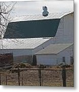 Old Barn With New Roof Metal Print