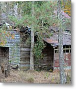 Old Barn With Side Shed Metal Print