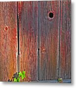 Old Barn Wood Metal Print