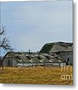 Old Barns In The Heartland Metal Print by Alys Caviness-Gober