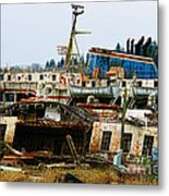 Old B.c. Rusted Ferry Metal Print