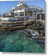 Old Beach House Metal Print