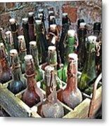 Old Beer Bottles Metal Print