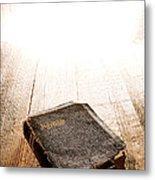 Old Bible In Divine Light Metal Print