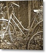 Old Bikes Metal Print