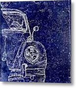 Old Blue Beetle Metal Print