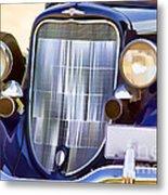 Old Blue Car Metal Print