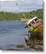Old Boat In The Loch  Metal Print