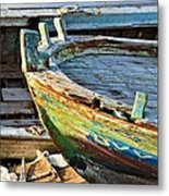 Old Boat - Lebanese Artist Zaher El- Bizri Metal Print