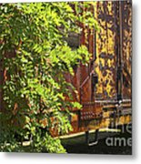 Old Boxcar Dying Slowly Metal Print