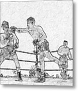 Old Boxing Old Time Metal Print
