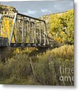 Old Bridge At La Boca Metal Print