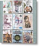 Old British Postage Stamps Metal Print