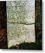 Old Broken Marker Metal Print by Mark Malitz