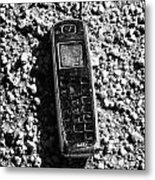 Old Broken Smashed Thrown Away Cheap Cordless Phone Usa Metal Print by Joe Fox