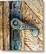 Old Bronze Church Door Handle Metal Print