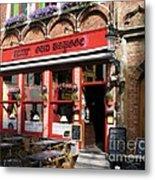 Old Brugge Tavern Metal Print
