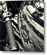 Old Bsa Cafe Racer Metal Print