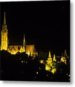 Old Buda At Night Metal Print