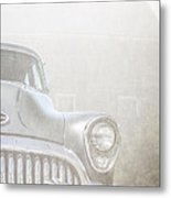 Old Buick Out By The Barn Metal Print