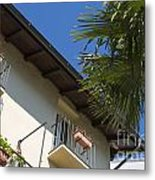 Old Building And Palm Trees Metal Print