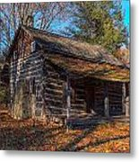 Old Cabin In The Woods Metal Print
