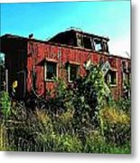 Old Caboose Metal Print