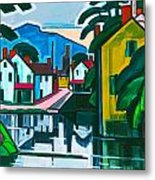 Old Canal Port Metal Print