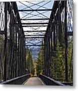 Old Canmore Railroad Bridge Metal Print