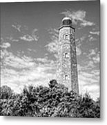 Old Cape Henry In Black And White Metal Print