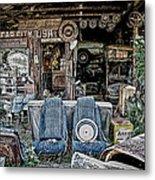 Old Car City Metal Print