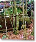 Old Car In The Woods Metal Print