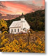 Old Carmel Ohio Church Metal Print