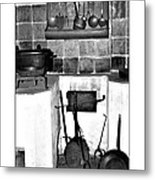 Old Cast Iron Cooking Metal Print