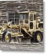 Old Cat Grader Metal Print