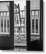 Old Chair At The Beach House Metal Print