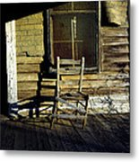 Old Chair On Old Porch Metal Print